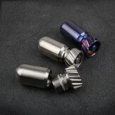 XANES® Titanyum Alaşımı Su Geçirmez Teneke Kutu İlaç Mühür Kapsül Şişesi Mini EDC Şişe Outdoor Kampçılık Parçalar Manyetik Yok Hafif