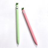 1 قطعة سيليكون كم واقية مكافحة زلة جميل أبل واقية القلم حالة الكمبيوتر اللوحي لمس القلم لأبل قلم رصاص 1/2 جيل