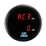 2'' 52mm Dual Digital Air Pressure Gauge PSI Air Suspension Meter Red LED