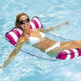 Gorący bubel wodny hamak składany nadmuchiwany słoneczny fotel do salonu Krzesło Pływające łóżko powietrzne z pompą powietrzną