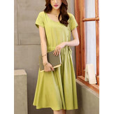 Women's Casual Solid Color Dress