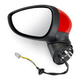 Electric Wing Door Mirror Painted Red Left Driver For Ford Fiesta Mk7 2008-2012