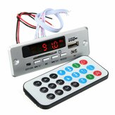 DC 12V / 5V MP3 decodifica Consiglio LED USB AUX Radio amplificatore FM Bluetooth con telecomando