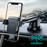 Ugreen 360 Degree Rotating Multifunction Auto Lock Car Dashboard Suction Cup Gravity Mount Holder for 4.7-6.5 inch Phone