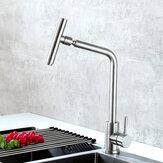 Lavello da cucina in acciaio inossidabile a 360 ° Rubinetto Lavello da cucina Miscelazione calda e fredda strappo Tipo Rubinetto