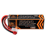 ZOP Power 11.1V 5000mAh 100C 3S T Plug Lipo Battery for RC Car