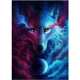 DIY 5D Diamond Painting Animal Wolf Diamond Embroidery Cross Stitch Full Round Drill Christmas Gift Home Decoration