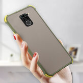 Bakeey for Xiaomi Redmi Note 9 / Redmi 10X 4G Case Armor Airbag Shockproof Anti-fingerprint Matte Translucent Hard PC&Soft Silicone Edge Protective Case Non-original
