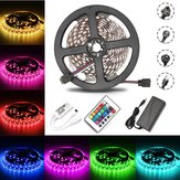 5M 60W SMD5050 Non impermeabile RGB LED Strip Light + Controller WiFi + remoto Control + Adapter DC12V