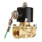 2W-200-20 AC220V combustíveis ar válvula solenóide elétrica água 3/4 polegadas latão