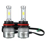 9007 H13 72W 8000LM 6500K Araba COB LED Far Kit Hi / Lo Ampüller