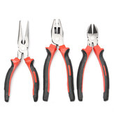3Pcs 8inch polegada Heavy Duty Long Nose Combination Cutter alicates de uso geral