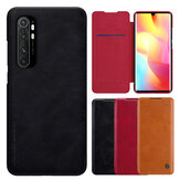Nillkin for Xiaomi Mi Note 10 Lite Case Bumper Flip Shockproof with Card Slot Full Cover PU Leather Protective Case Non-original