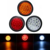 Round Reflector Rear Tail Freio Stop Marker Indicador de Luz para Caminhão Trailers
