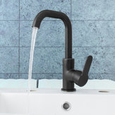 Black Copper Paint Basin Hot and Cold Faucet Kitchen Sink Rotatable Water Tap