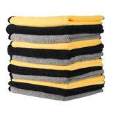MATCC 12PCS Super απορροφητικές πετσέτες Microfiber Καθαριστικά υφάσματα Αυτοκινήτου Professiona Care Care Πλενόμενο για πολλαπλή χρήση