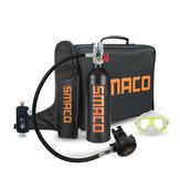 Кислородный баллон SMACO 1L (зеленый / оранжевый / черный, опция) Дайвинг Очки Кислородный баллон Сумка Handbag Адаптер для подводного плавания Рук