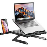 Muti-Angle Adjustable Portable Foldable Laptop Stand with Heat-Vent Ergonomic Laptop Stand Riser for Desk