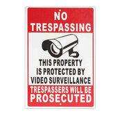 BRAK WŁAŚCIWOŚCI WŁAŚCIWYCH OBRACHUNKAMI OCHRONIONYCH ZA POMOCĄ SYSTEMU RETROSPEKTORÓW Safty Camera Metal Sign with Two Holes