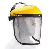 Großer Stahl-Metallmaschen-Visier-Schutzhelm Hut für Kettensäge-Freischneider-volle Gesichts-Schutz-Maske