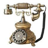 Vintage antieke telefoon ouderwetse gouden snoer Retro handset telefoon kantoor
