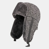 Unisex Cotton Plus Thicken Plus Velvet Warm Windproof Ear Protection Outdoor Foldable Trapper Hat