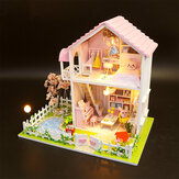 DIY Gemonteerd Cottage Love of Cherry Tree Doll House Kids Toys