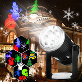 6 Patterns 4W LED Stage Light  Laser Projector Lamp Landscape Garden Decor for Halloween Christmas Decorations Clearance Christmas Lights