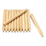 New 100pcs Free Shipping Log Wood Short Pencil 8.6cm Eco-friendly Pencil School Student Mechanical Graphite