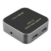 ACASIS USB3.0 1080P HD Видеозахват Коробка для игровой трансляции в прямом эфире Карта видеозаписи для Youtube OBS Tik Tok PS4 Мобильный телефон ПК