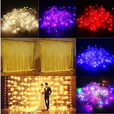 3M 10W 300LED 8 Modes Window Curtain Icicle String Fairy Holiday Light Wedding Party US Plug AC110V