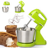 7 Speed Electric Egg Beater Dough Cakes Bread Egg Stand Mixer + Hand Blender + Bowl Food Mixer Kitchen Accessories Egg Tools
