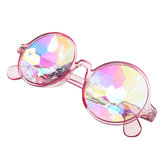 Unisex Party Kaleidoscope Occhiali Glass lente Costume Eyes Mirrored Retro Frame