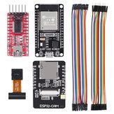 AOQDQDQD® ESP32 CAM WiFi Development Board+ ESP-32S Development Board+FT232RL FTDI + Jumper Wire for Arduino Raspberry Pi ESP32 Camera