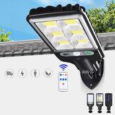LED Solar Alimentación PIR Motion Sensor Aplique de jardín al aire libre Security Street Lámpara con Control remoto