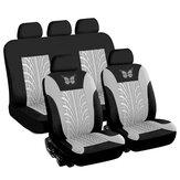 Universal Car Seat Covers Protector Almofada Frente Traseira 3D Borboleta Padrão