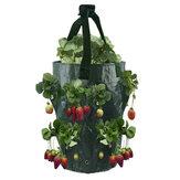 3 Gallonen Erdbeerpflanze Grow Bag Garten Hängetasche Flower Herb Taschen