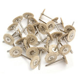 30pcs Soft White Goat Hair Polishing Wheel Brushes Set