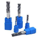 Drillpro 1-20mm 4 Flute Milling Cutter التنغستن الصلب HRC50 نهاية مطحنة أدوات آلة طحن للصلب