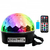 12W Bluetooth Controle de voz LED Magic Ball Stage Lamp Colorful MP3 Disco com controlador remoto