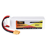 ZOP Power 11.1V 2200mah 3S 20C Lipo Battery XT60 Plug