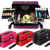 Caso organizador cosméticos titular de armazenamento de jóias caixa de zipper trinket maquiagem