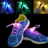 4ª geração LED brilhante cadarços de flash cadarços de sapatos cinta fontes do partido de dança ao ar livre