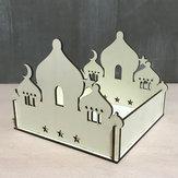 Selbstmontage Puzzle Holzgebäude Modell Kits DIY Islamische Hausständer Rack Ramadan Geschenke Dekorationen