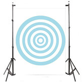 3x5FT Blue Circle Photography Backdrop Photo Studio Background