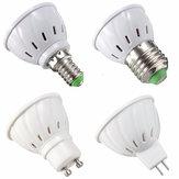 E27 E14 GU10 MR16 LED 3W 36 SMD 2835 LED Lâmpada de iluminação branca branca branca pura AC110V AC220V