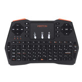 Viboton I8 Plus 2.4G Sem Fio Hebraico Mini Teclado Touchpad Airmouse para TV Caixa Smart TV PC