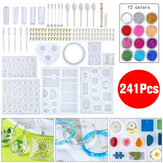 41Pcs DIY Jewelry Mould Handmade Crystal Glue Mould Set Resin Silicone Mold Kit