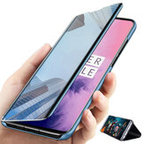 Bakeey for Xiaomi Redmi 9A Case Foldable Flip Plating Mirror Window Shockproof Full Cover Protective Case