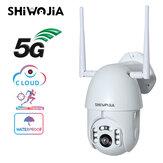 SHIWOJIA 5G Dualband-Tuya-Überwachungskamera 2MP Zweiwege-Gegensprechanlage HD Nachtsicht-WLAN 355 ° PTZ-Kamera